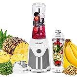 Duronic BL505 Mini Blender / Mixeur électrique de 500W pour smoothies, milkshakes et jus de fruits   2 bouteilles portables de 600 ml sans BPA   Infuseur gratuit   Idéal pour les déplacements