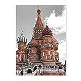 CHBOEN Toile de peinture Toile peinture vintage architecture mural art affiche Tour Eiffel Rome souhaitant imprimer des photos modernes décor salon (Color : G, Size : 30x40cm No Frame)