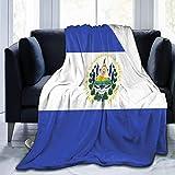 XCNGG couvertures de literie couvertures de sieste couvertures de climatisation El Salvador Flag Flannel Blanket Soft Warm Throw Blanket Premium Lap Blanket Durable Sofa Blanket Comfortable Sherpa Bla