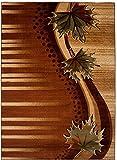 Tapis De Salon - Marron - Design Classique Le Feuillage - Plusieurs Coloris & Tailles - Antica - 240x330 cm Grande XXL