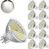 Yafido MR16 GU5.3 Ampoules LED 12V 5W Blanc froid Remplacer 35W Halogène GU 5.3 MR 16 Spot 4500K Blanc neutre 400 Lumens Angle de faisceau 120 ° Ø50 x 48 mm (Pack de 10)