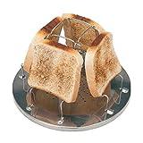 SIPLIV Acier Inoxydable Toast Rack Camp cuisinière Grille-Pain Petit déjeuner Sandwich Toast Rack pour extérieur Camping activités en Plein air Pliable Grille Pain grillé