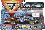 Monster Jam Official Radical Rescue vs. Blue Thunder Monster Truck moulé sous Pression à Changement de Couleur, échelle 1/64