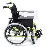FGVDJ Fauteuil Roulant pédiatrique Pliant pour Enfants, fauteuils roulants légers en Aluminium pour préposé aux Enfants, Largeur d'assise, Dossier, AR