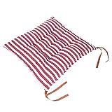 Coussin de siège pour la maison, coton décoratif de coussin de carte du monde de bande de coussin pour antidérapant, pour la chaise de chaise de bureau à la maison de voiture 40 x 40 x 7 cm rose