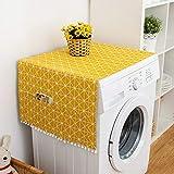 Plyisty Housse Anti-poussière pour réfrigérateur, Housses pour laveuse et sécheuse, Toile de Coton Design élégant Style Frais pour Armoire de congélation(55 * 130cm 51x21inch)