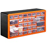 VonHaus Casier/Armoire de Rangement 30 Tiroirs/Compartiments – Noir/Orange
