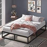 Cadre de lit plateforme en métal 25 cm Joseph ZINUS | Sommier | Support à lattes en bois | Rangement sous le lit | 160 x 200 cm | Noir