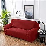 Sofa Clean Housse De Canapé Élastique Élastique Fractal Utilisé pour Le Salon Fauteuil en L Simple/Deux/Trois-Rouge_45Cmx45Cm