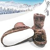 Haplws Pantoufles chauffantes, Chaussures chauffantes, Chaussons Chauffants Chaussures chauffantes électriques d'hiver Chaussures Chaudes en Peluche USB