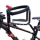 MAJOZ0 Siege Velo Enfant, Avant Vélo Siège Bébé Siège à Bicyclette avec Garde-Corps, Dossier et Pédale (pour Enfant de 2 à 6 Ans)