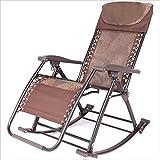 WJJJ Fauteuil inclinablechaise berçante Cour de Jardin extérieur Alliage d'aluminium portatif Chaise de Concepteur Occasionnel Moderne
