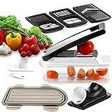 Set de cuisine Hoerde Chefkoch - Trancheur à spirale, coupe-légumes, coupe-frites et coupe-légumes - Coupe-légumes Coupe-oignons Coupe-frites Coupe-fruits de fruits universel Spiraliseur
