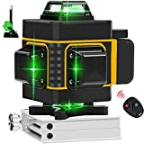 16 Lines Cross Green Line Laser Level 4x360 High Precision Auto Leveling Alignment Instrument Lifting Base Magnetic Wall Mount Bracket for Indoor Outdoor