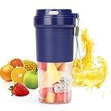 POWERGIANT Portable Mixeur, Mini Mixeur des Fruits Rechargeable avec USB, 300ml Verre Éléctrique Mixeur pour Milk-shake, Smoothie, Jus de fruits, Bouteille type, Certifié BPA/FDA