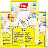 PIC Piège à Mites des Vêtements Paquet de Trois = 6 - Produit Anti Mites Textiles, approprié pour la Protection de Tous Les vêtements dans l'armoire et en Stockage