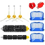 MTKD® Kit brosse pour Roomba série 600 - Kit de 10 pièces accessoires (Brosses Latérale, filtres, brosse de Cerda et etc..) pour aspirateur robot.