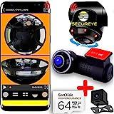 #2021#Caméra voiture de bord embarquée wifi VOCAL FRANCAIS réel 360° DASCHCAM IR double vidéo haut de gamme fisheye panoramique UHD 4K espion MICRO équipement électronique jour/nuit CARTE SD 64Go 4K