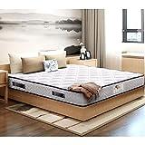 TEENO Luxe Matelas 140x190 cm Luxe Mousse à mémoire Épaisseur 16 cm Gel Mousse HR Confort Équilibré