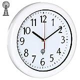 Deuba Horloge Murale/Radio-pilotée étanche, résistant - Ø30cm - avec trotteuse