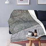LESIF Couverture en flanelle, la Rosetta Stone de Fort St Julien, double face, super douce et confortable, réversible en microfibre, couverture solide pour lit et canapé 127 x 152,4 cm