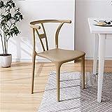 Chaise de loisirs monobloc, chaise en plastique avec dossier épais, chaise de salle à manger simple pour ménage, chaise de négociation de bureau, convient au salon, à l'hôtel, au restaurant, etc.