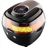 TONINI Air Fryer, 5 L électrique Air Fryer avec Dégraissage Technologie et très Grande Taille for Toute la Famille, contrôle de la température et 0-60 Min Cuisson minuterie, 1350 W, Noir