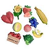 Magnet Frigo,Aimant Résine De Fruits 3D Aimant De Réfrigérateur en Trois Dimensions À La Fraise Caulflower Lychee Blueberry Maïs Magnétique De Réfrigérateur (Color : B)
