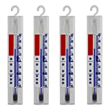 Lantelme Lot de 4 Réfrigérateur Congélateur, glace, armoire, thermomètre de refroidissement. Analogique Température anzige +/- 40 °C 4884
