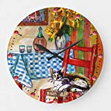 None Brand Italian Kitchen in Florence Chaise et horloge ronde Rouge