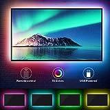 Mobxpar Ruban LED 3m Bande LED 5050 RGB Multicolores Lumineuse avec Télécommande Décoration d'Armoire pour Mariage Chambre La télé Fête Noël Maison Cuisine, Découpable