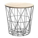 Paris Prix Atmosphera Créateur d'intérieur - Table d'Appoint Design Kumi 41cm Noir