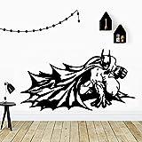 Batman Stickers Muraux Amoureux Des Animaux Maison Chambre Chambre de Bébé Décoration Art Mural , Taille: M 28 cm X 52 cm