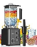 Blender Smoothie 2200W, Makoloce Blender Mixeur 2.2L, 10 Vitesses Réglables et Fonction Pulse, Mixeur Multifonction avec 6 Lames pour Smoothie,Glace pilée,Jus,Dessert,Nettoyage Automatique,sans BPA