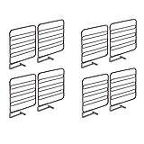 mDesign séparateur armoire pour la garde-robe (lot de 8) – système d'aménagement placard en métal pratique pour la garde-robe – séparateur étagère utile sans perçage – couleur bronze