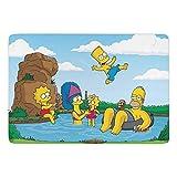 Cartoon Simpsons Tapis de sol en velours corail doux moderne et moelleux de haute qualité pour chambre à coucher, salon, chambre d'enfant, intérieur