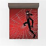 Drap housse Spiderman - Jolies couleurs - Matière douce - Très agréable au toucher - Format A4,90 x 200 cm