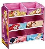 Disney 866361 Meuble de Rangement pour Chambre d'Enfant avec 6 bacs, Bois, Multicoloured, New