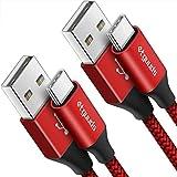 [3m/Lot de 2] etguuds Câble USB C Long, Ultra Résistant Nylon Cable Chargeur Type C, Charge Rapide 3A pour Samsung Galaxy S9 S10 S8 Plus S20, Note 10 9 8, A50 A40 A51 A41 A71, Xperia XZ, Redmi