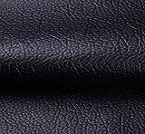 cuir synthétique au mètre Tissu En Similicuir Imitation Cuir Tissu Texturé 54 Pouces De Large Similicuir Couleurs Solides Tissu En Vinyle Tissu D'ameublement En Similicuir Largeur 138cm 1 Pièce=100cm