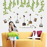 Rotin cadre stickers muraux salon chambre étude canapé TV mur décoration de fond détachable 60 * 90 cm Yh0760