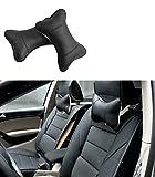 Katech 2 oreillers tour de cou pour auto appuie-tête respirant support de cou Coussin ergonomique coussin de nuque confortable de voiture Oreiller de voyage