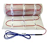 Tapis de câbles chauffants électriques EXTHERM - 4,5m² - Chauffage au sol électrique efficace 150 W/m² - Technologie TWIN - Classe d'efficacité énergétique A +++