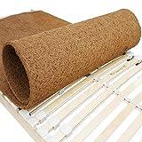 Protège-matelas en fibre de coco de qualité supérieure pour sommier à lattes - Activité ATMUNGSAKTIVER/Anti-allergique - Protège-matelas - Fabriqué en Union européenne 140 x 200 cm