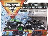 Monster Jam Official Alien Invasion vs. Soldier Fortune Black Ops Monstres Moulés sous Pression à Changement de Couleur, échelle 1/64