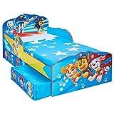 La Pat' Patrouille - Lit pour enfants avec espace de rangement sous le lit, Bleu, Twin