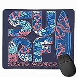 Tapis de souris de jeu avec caoutchouc antidérapant, tapis de souris texturés de qualité supérieure, tapis de souris mignon pour les joueurs, le bureau et la maison Californie Blue Girl College Surf F