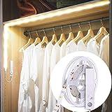 B.K.Licht ruban LED avec détecteur de mouvements, éclairage dimmable pour placard armoire vitrine, longueur 1m, auto-adhésif, lumière blanche neutre 4000 Kelvin, option éclairage en continu