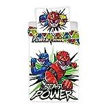 BrandMac Bed Linen - Adult Size 140 x 200 cm - Power Rangers (1026001)