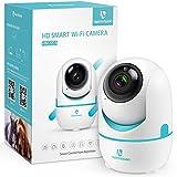 HeimVision HD 1536P Caméra de Surveillance WiFi Intérieure, 2K 3MP Rotation 360° Panoramique/Inclinaison/Zoom 4X, Détection de Mouvement, 6 LED Infrarouges, Cloud+SD Stockage pour Bébé/Animal, HM202A
